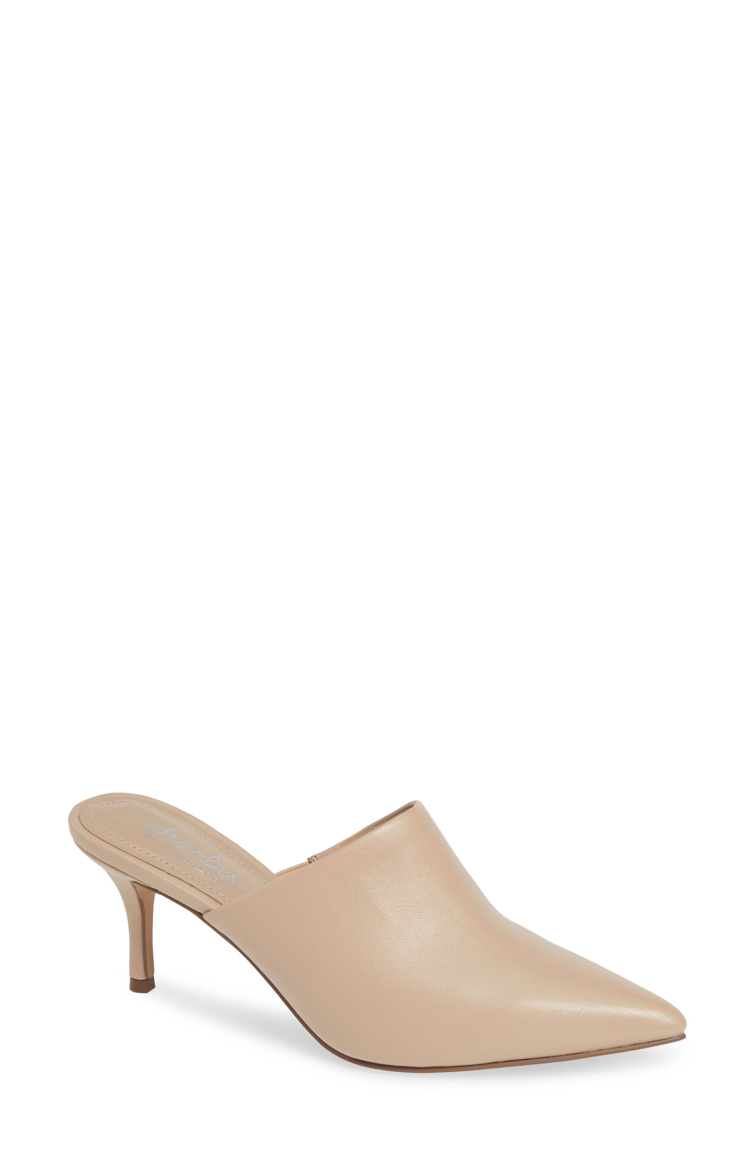 4ee0acd5da35 Charles By Charles David Abree Pointed-Toe Mules In Nude