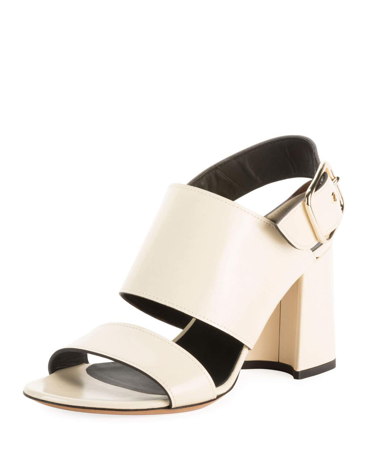 376ff3dba7 Dries Van Noten Calf Leather Chunky Heel Sandals In Beige | ModeSens
