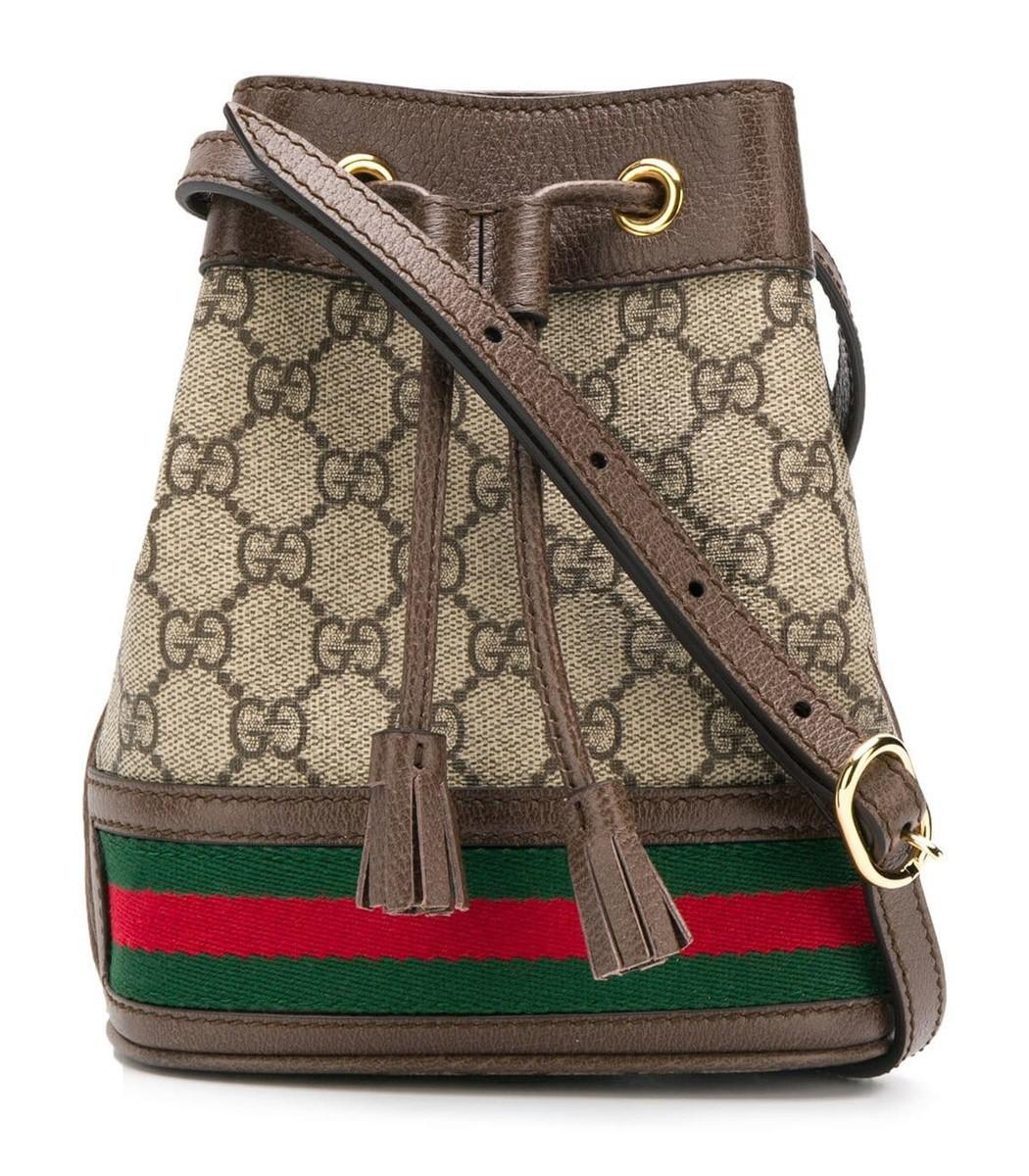 d1774fa766141e Gucci Mini Ophidia Gg Supreme Bucket Bag - Beige In Brown | ModeSens