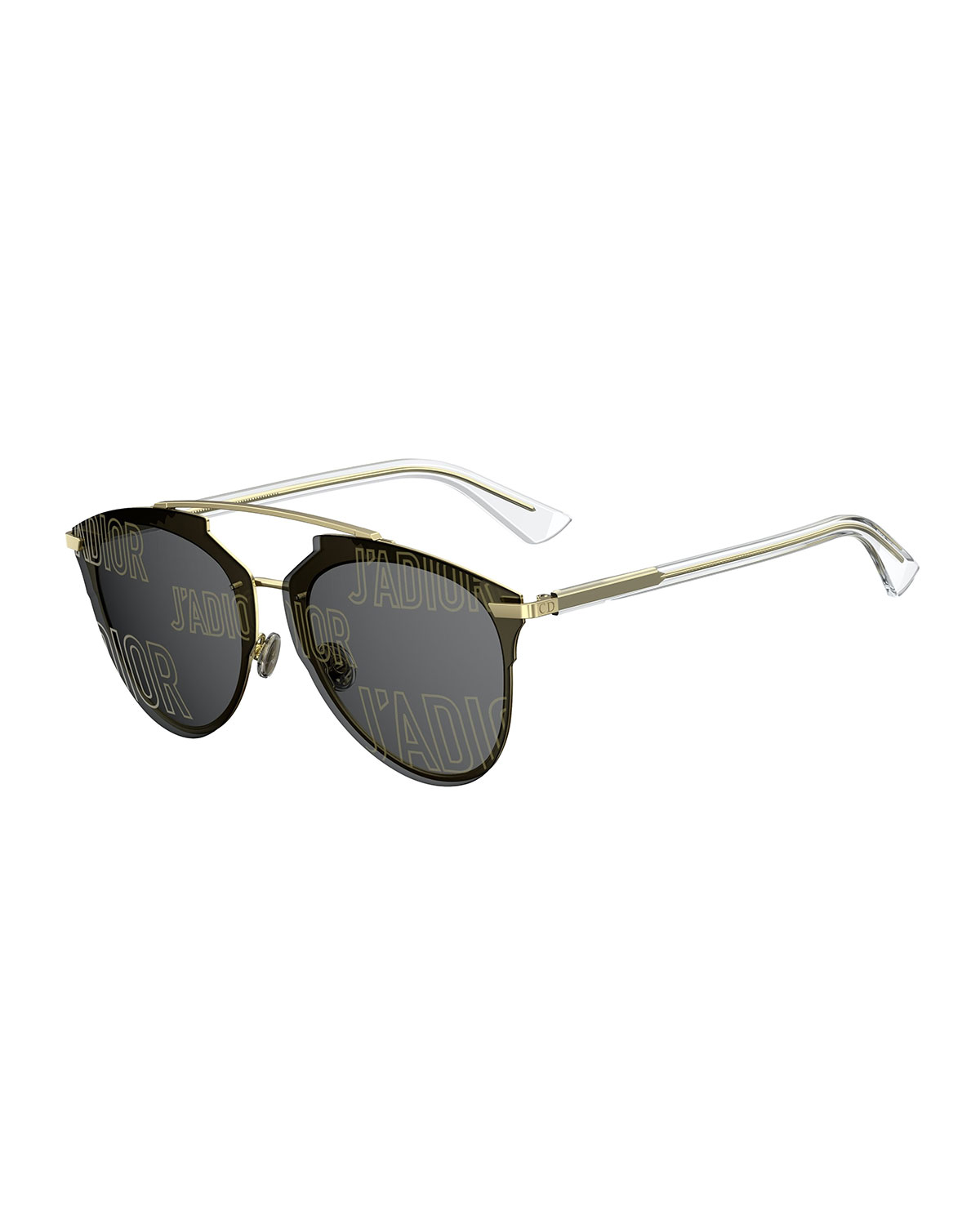 8f9bcc735b162 Dior Reflected Prism 63Mm Oversize Mirrored Brow Bar Sunglasses - Rose  Gold  Crystal In Black