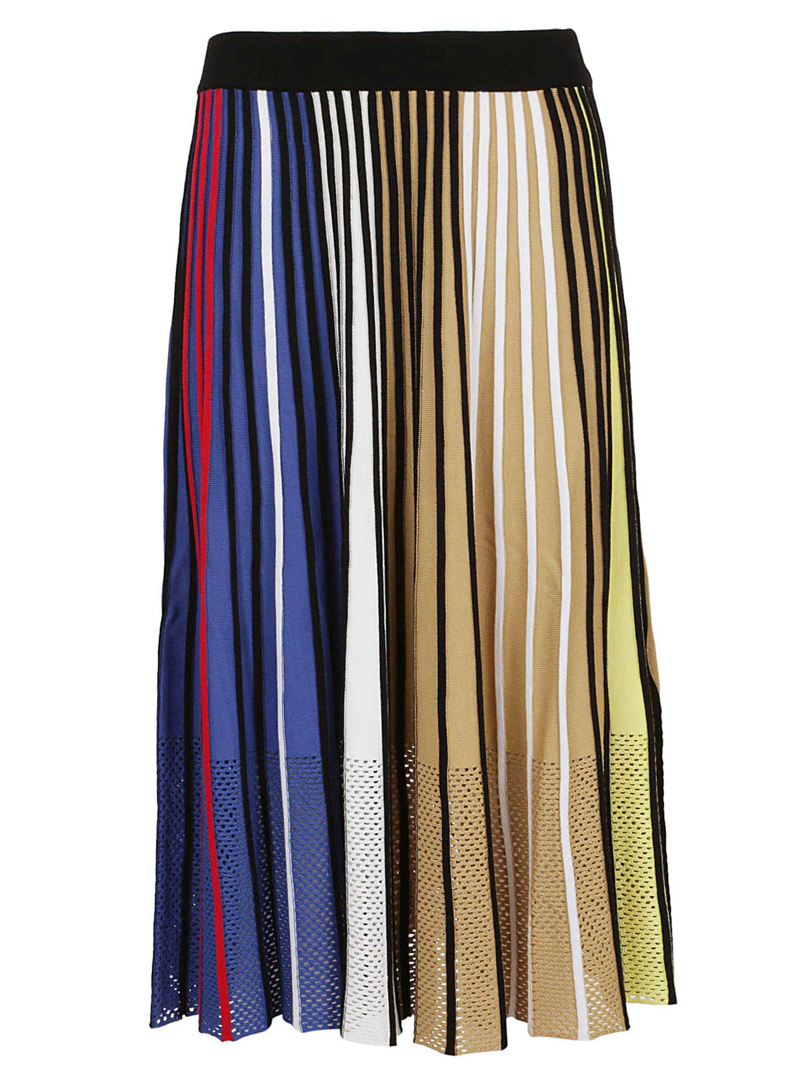 bfb122e363c0 Kenzo Vertical-Stripe Pleated Mesh Midi Skirt In Mu -Multico