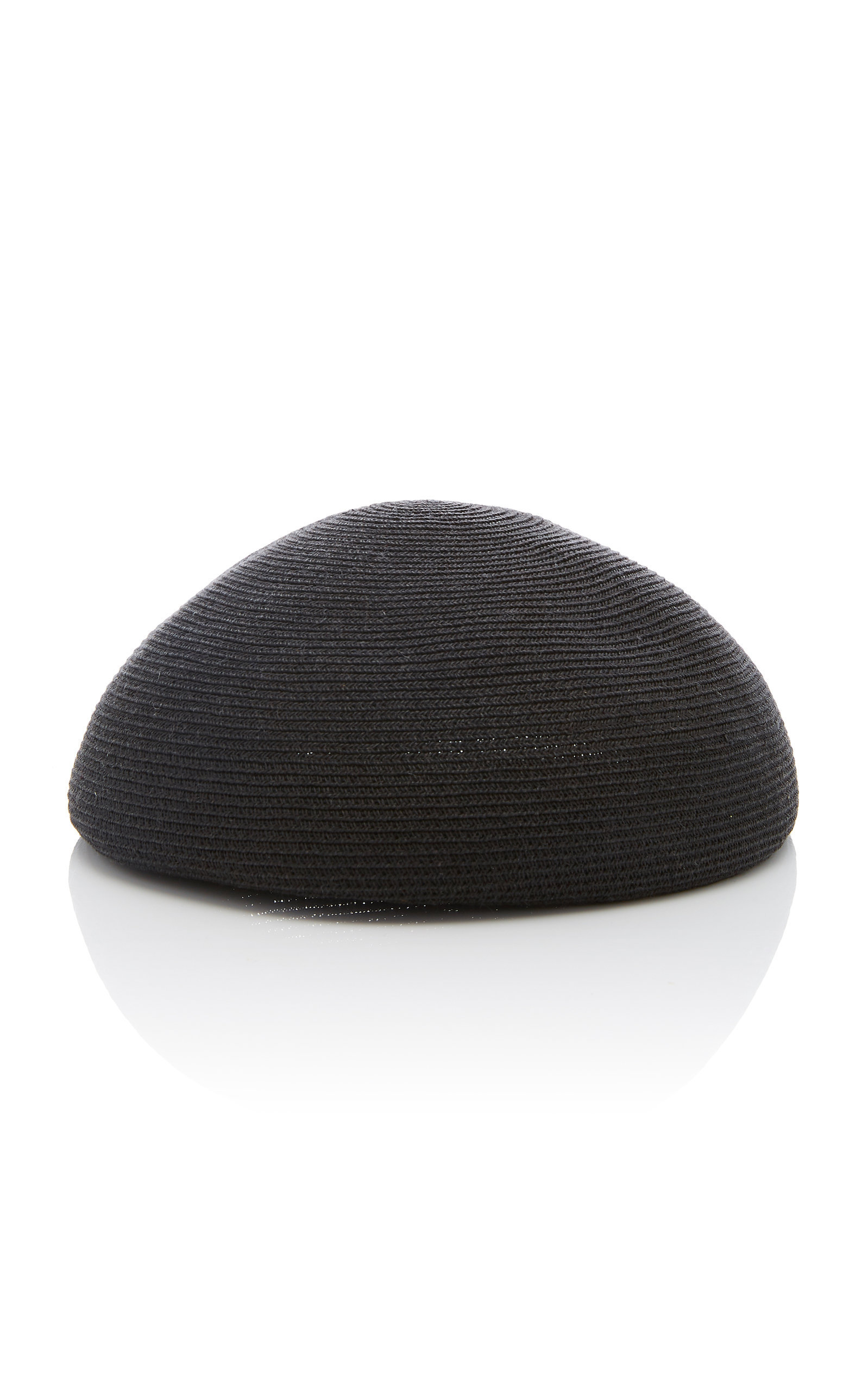 70278b24a1e35 Shop Yestadt Millinery Zina Leather-Trimmed Straw Beret In Black