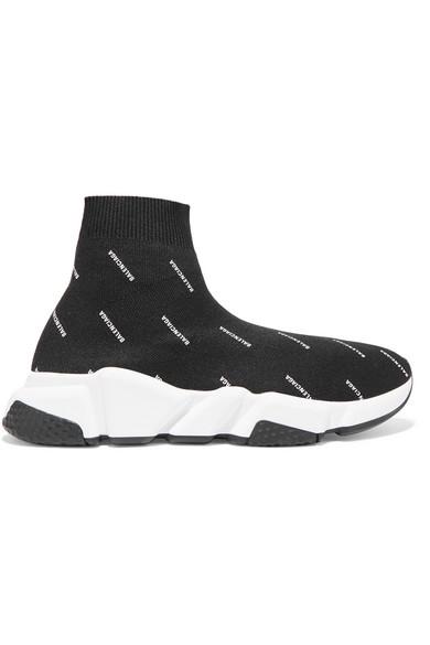 Balenciaga Kids' Tall Speed Knit Sock Sneakers, Toddler/kids In Black