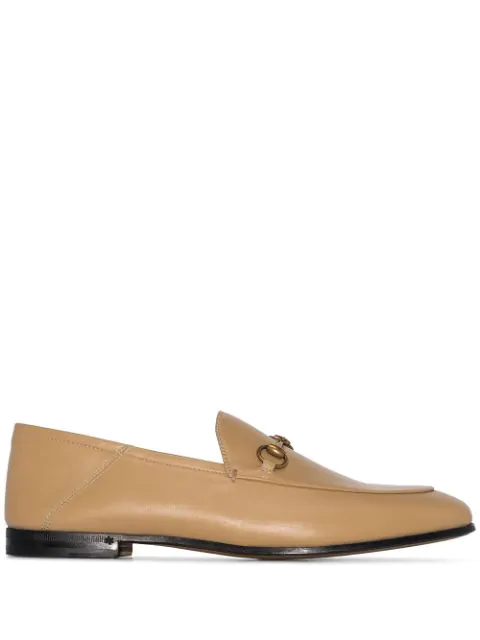 Gucci Brixton Collapsible-heel Leather Loafers In Neutrals