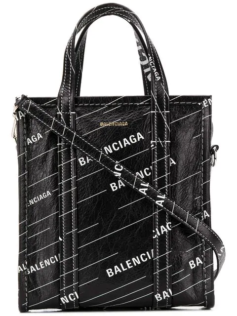 Balenciaga Bazar Shopper Xs Bag In Black