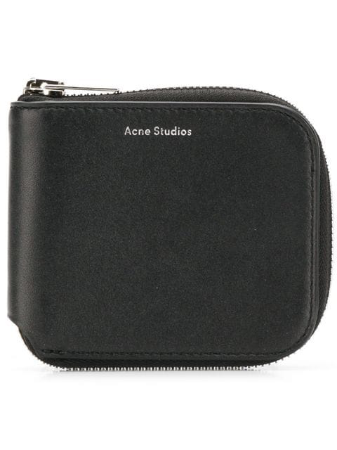 Acne Studios Kei S Leather Wallet In Black