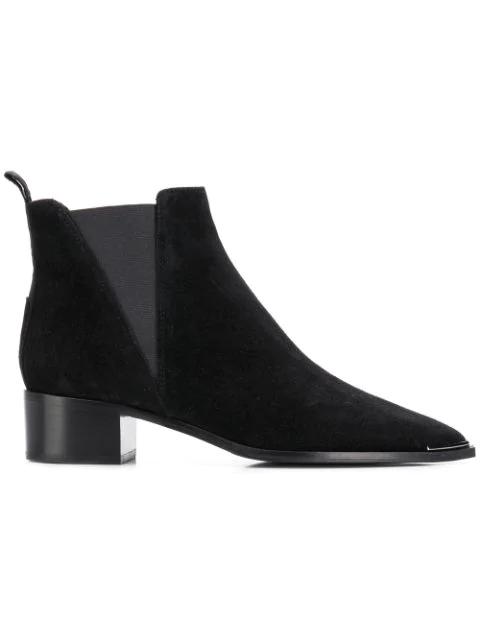 Acne Studios Chelsea Jensen Black Suede Ankle Boots