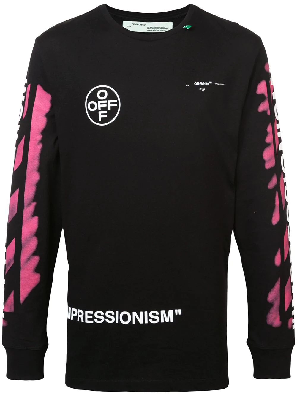b860b9e92272e6 Off-White Impressionism' Diag Stencil Sweatshirt Black/Pink/White ...
