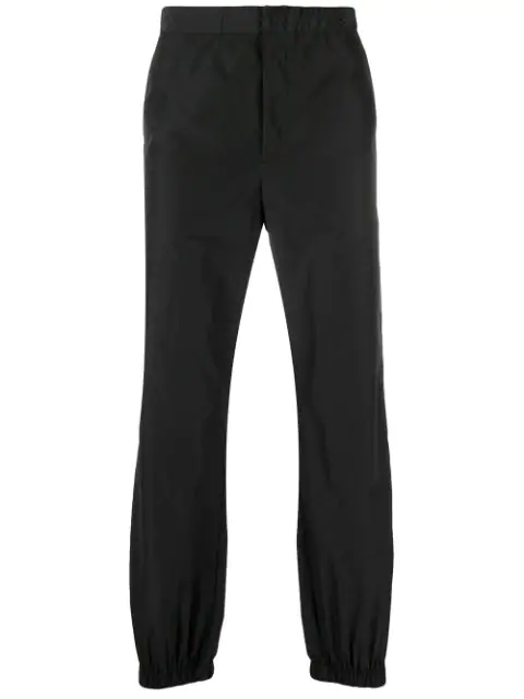 Prada Elasticated Waist Trousers In Black