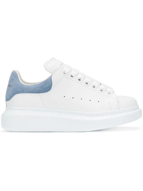 Alexander Mcqueen Suede-trimmed Leather Exaggerated-sole Sneakers In 9038
