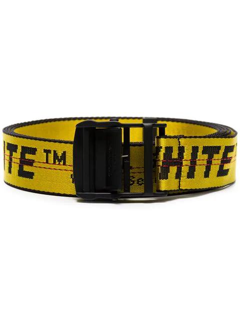 Off-white 3.5cm Yellow Industrial Logo-jacquard Webbing Belt