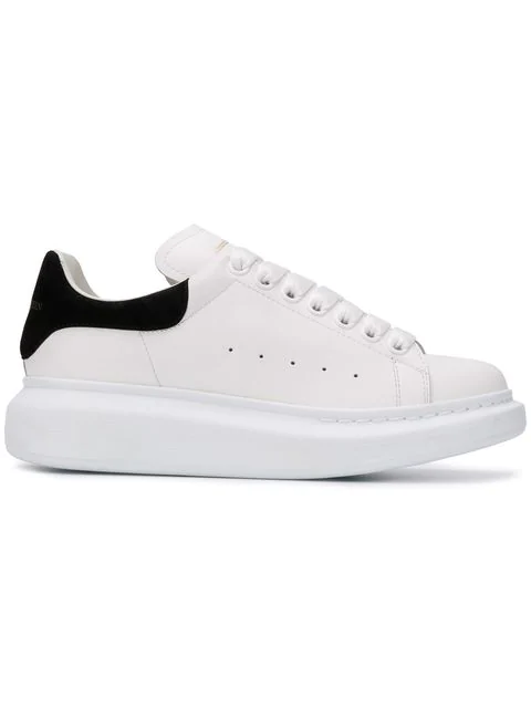 Alexander Mcqueen Low-top Sneakers Larry  Calfskin Logo Black White
