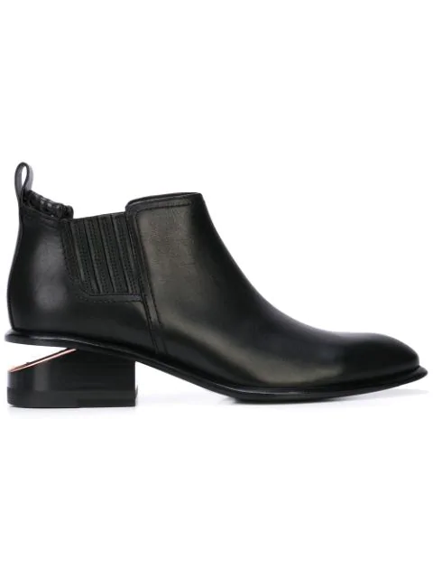 Alexander Wang 'kori' Cutout Heel Leather Chelsea Boots In Black