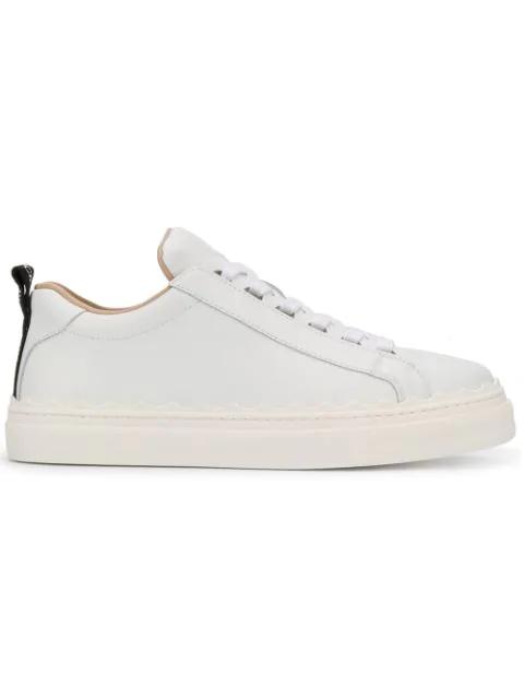 ChloÉ Chloe Lauren Low Top Sneakers In White
