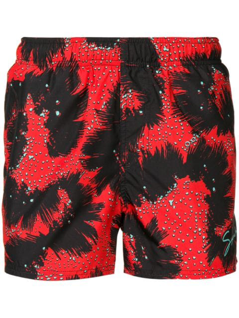 Givenchy Abstract Pattern Swim Shorts In Black