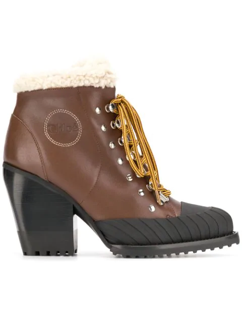 ChloÉ Rylee Mountain Boots In Brown