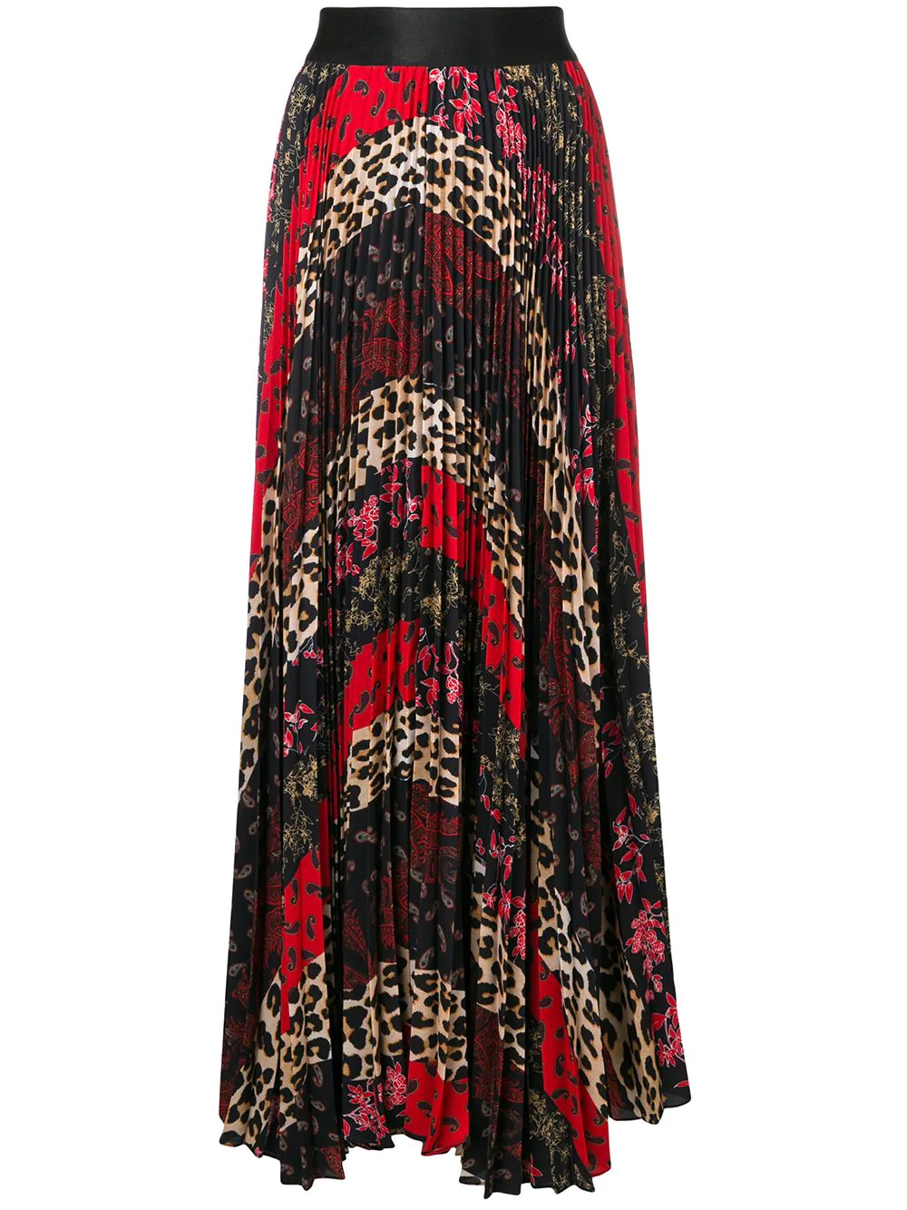 11400622f0 Alice And Olivia Alice+Olivia Pleated Maxi Skirt - Multicolour In Black