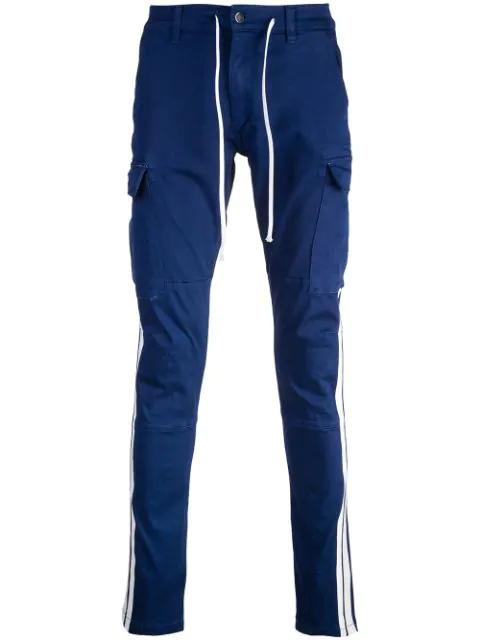 Amiri 蓝色 Stack 运动工装裤 In Blue Wht