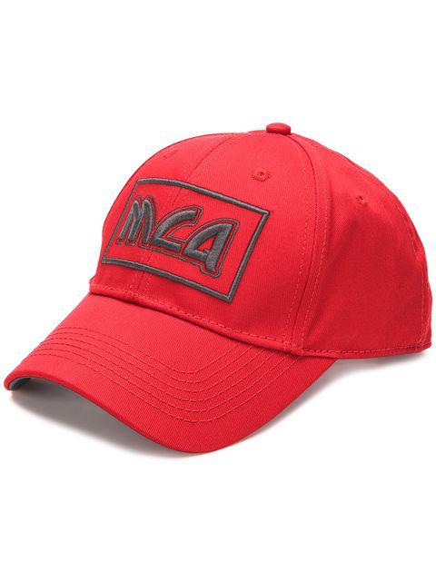 Mcq By Alexander Mcqueen Mcq Alexander Mcqueen Red Embroidered Metal Logo Cap