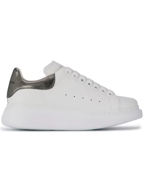 Alexander Mcqueen White And Black Runway Leather Trainers