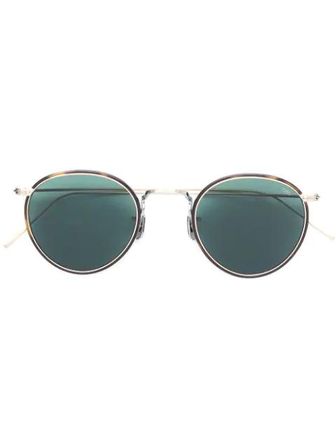Eyevan7285 Tortoiseshell Round Frame Sunglasses In Metallic