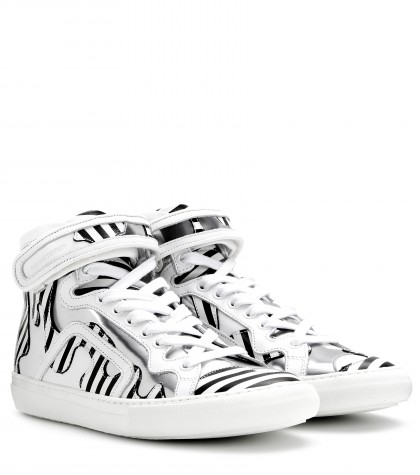 Pierre Hardy Mytheresa.com Exclusive Printed Leather High-top Sneakers In White