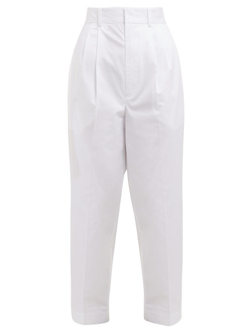 Isabel Marant Grayson Cropped Cotton Trousers In White