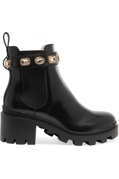 Gucci Black Trip 70 Detachable Anklet Chunky Boots