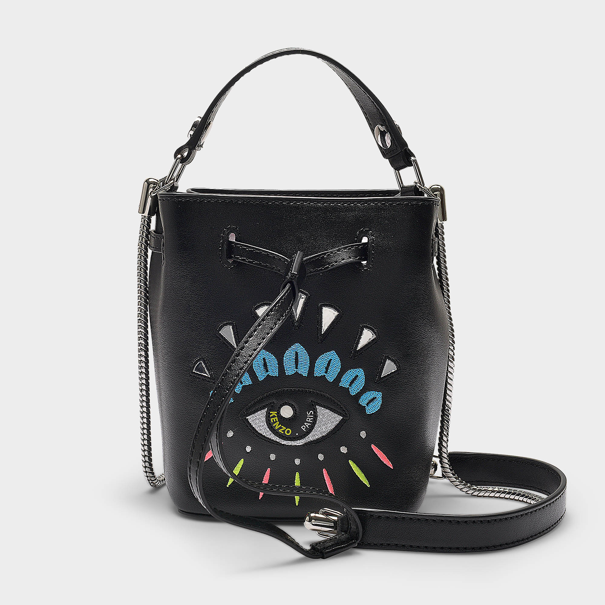 a2beb03e1b Kenzo Mini Bucket Bag With Eye Embroidery In Black | ModeSens