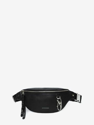 Alexander Mcqueen Harness Nappa Leather Belt Bag In Black