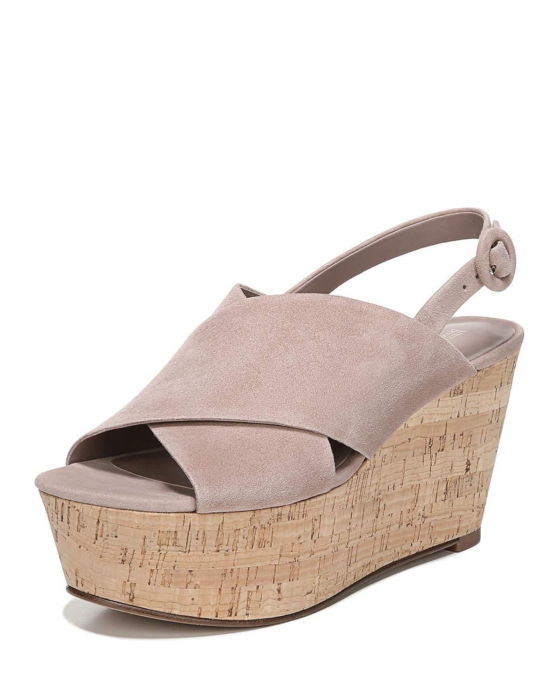 56fa64c58753 Diane Von Furstenberg Juno Suede Slingback Wedge Sandals In Beige ...