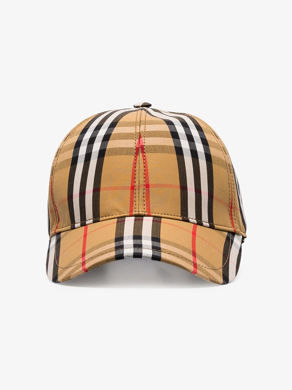 Burberry Logo-embellished Vintage Check-print Cotton-blend Baseball Cap In Archive Bei