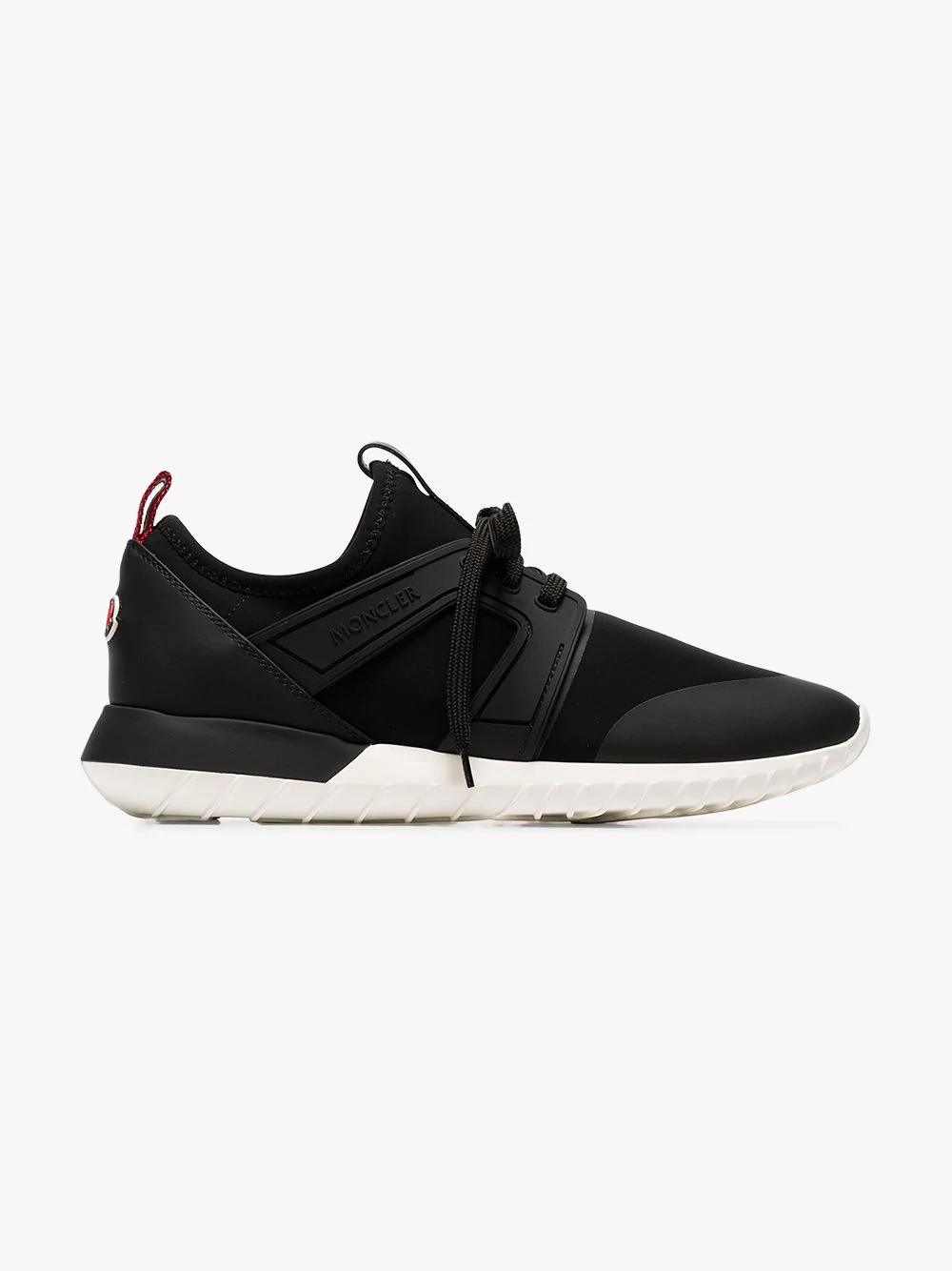 Moncler Meline Neoprene And Leather Low-top Trainers In Black
