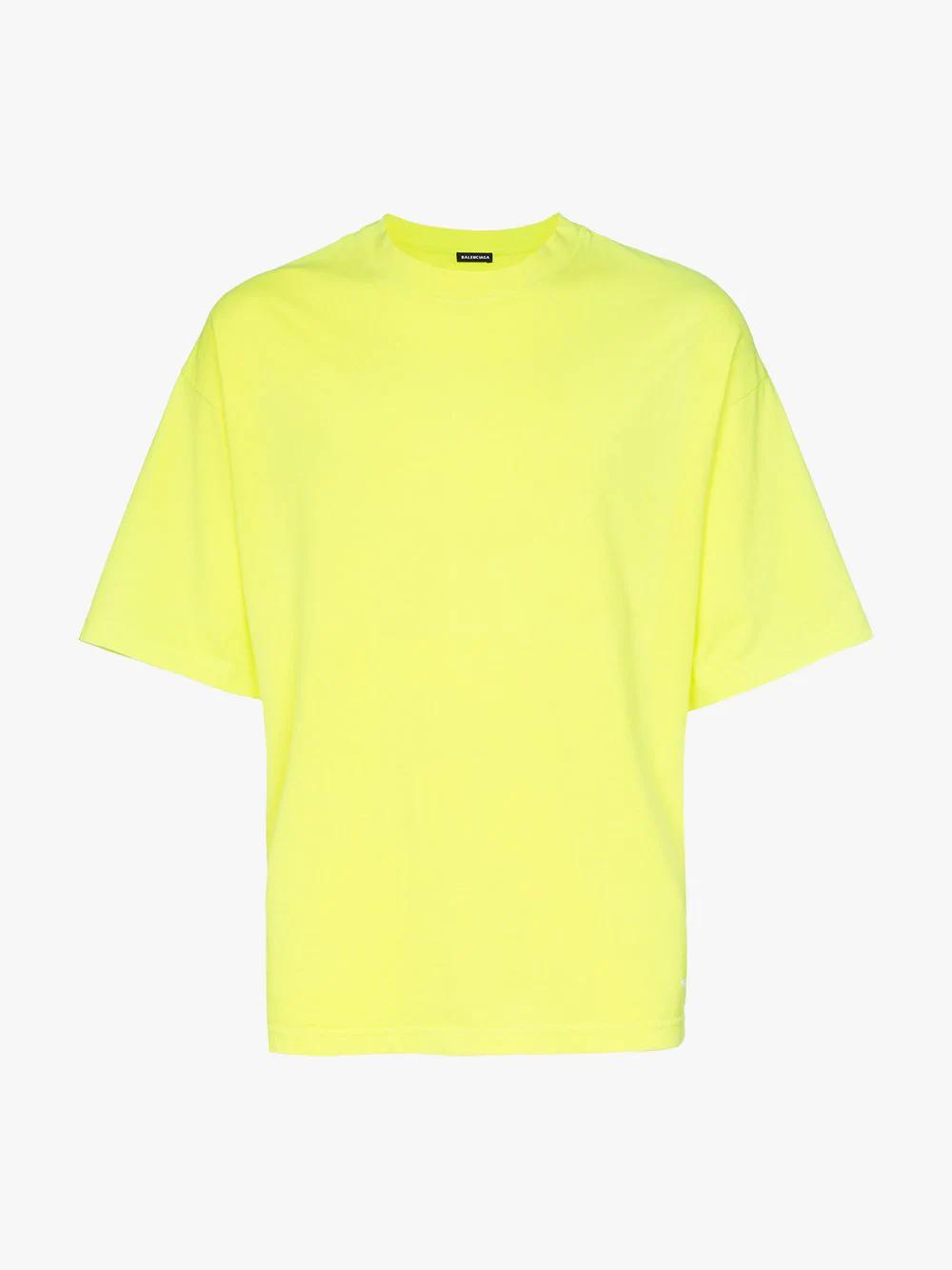 951df3a94847 Balenciaga Logo-Embroidered Cotton-Jersey T-Shirt - Yellow | ModeSens