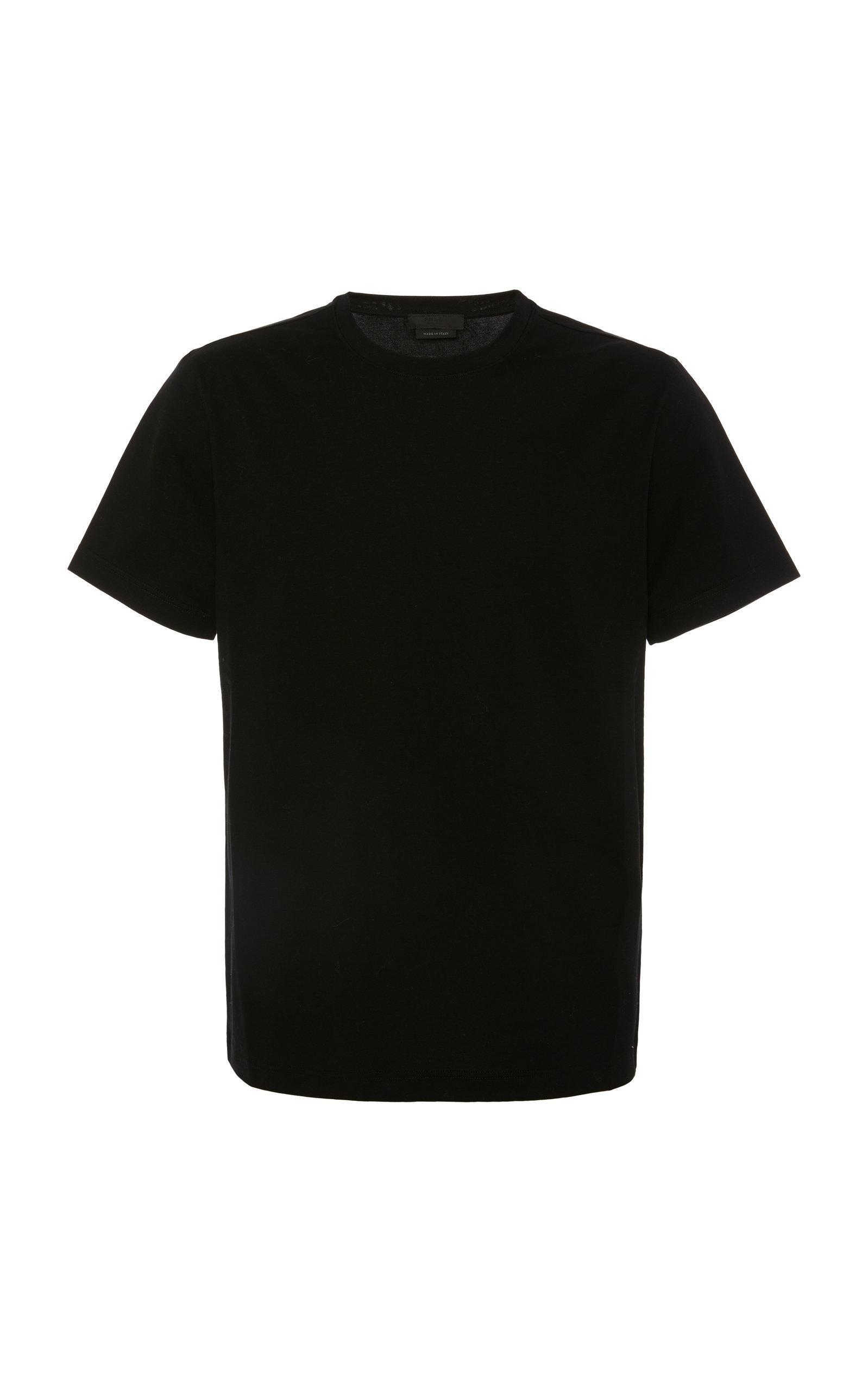 Prada Set Of Three Cotton-jersey T-shirts In Black