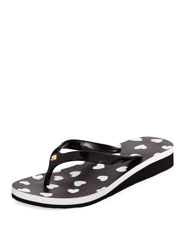 3e5bb93f003c Kate Spade Milli Hearts Flip-Flop Sandals In Black