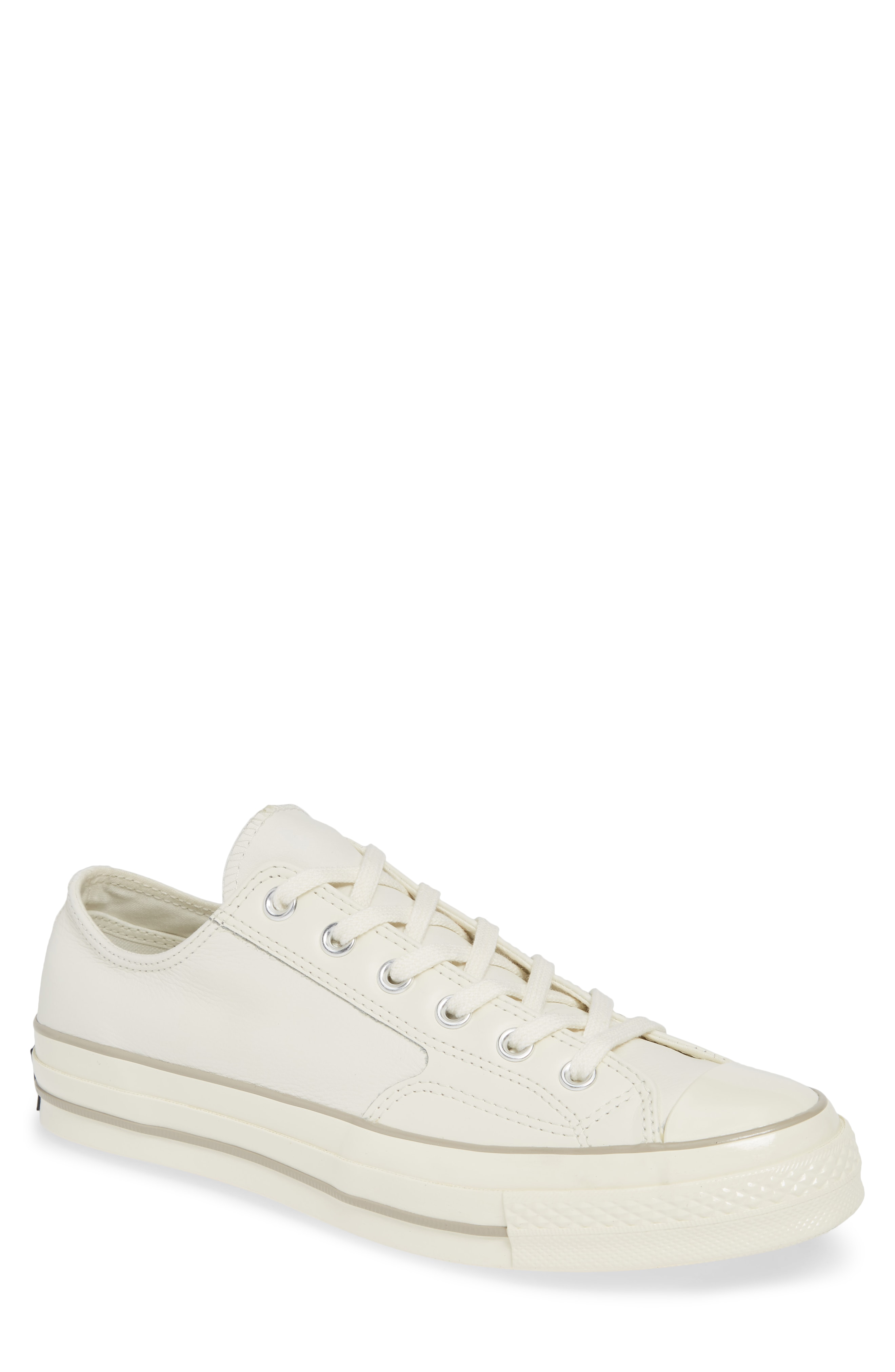 a9af5afbfc2 Converse Chuck Taylor All Star 70 Low Top Leather Sneaker In White ...