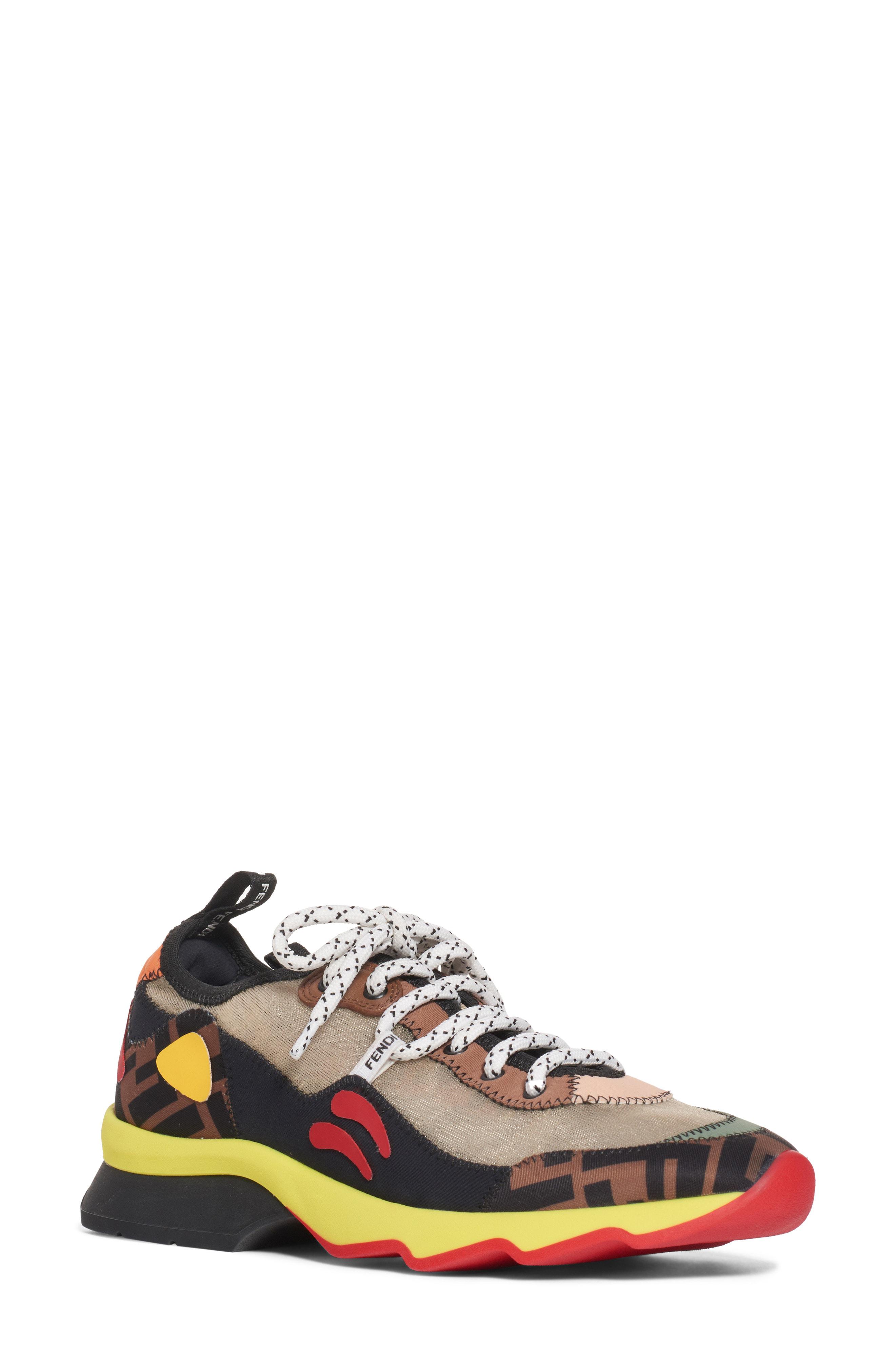 Fendi Freedom Ff Patchwork Sneakers 0f7fda800fe55