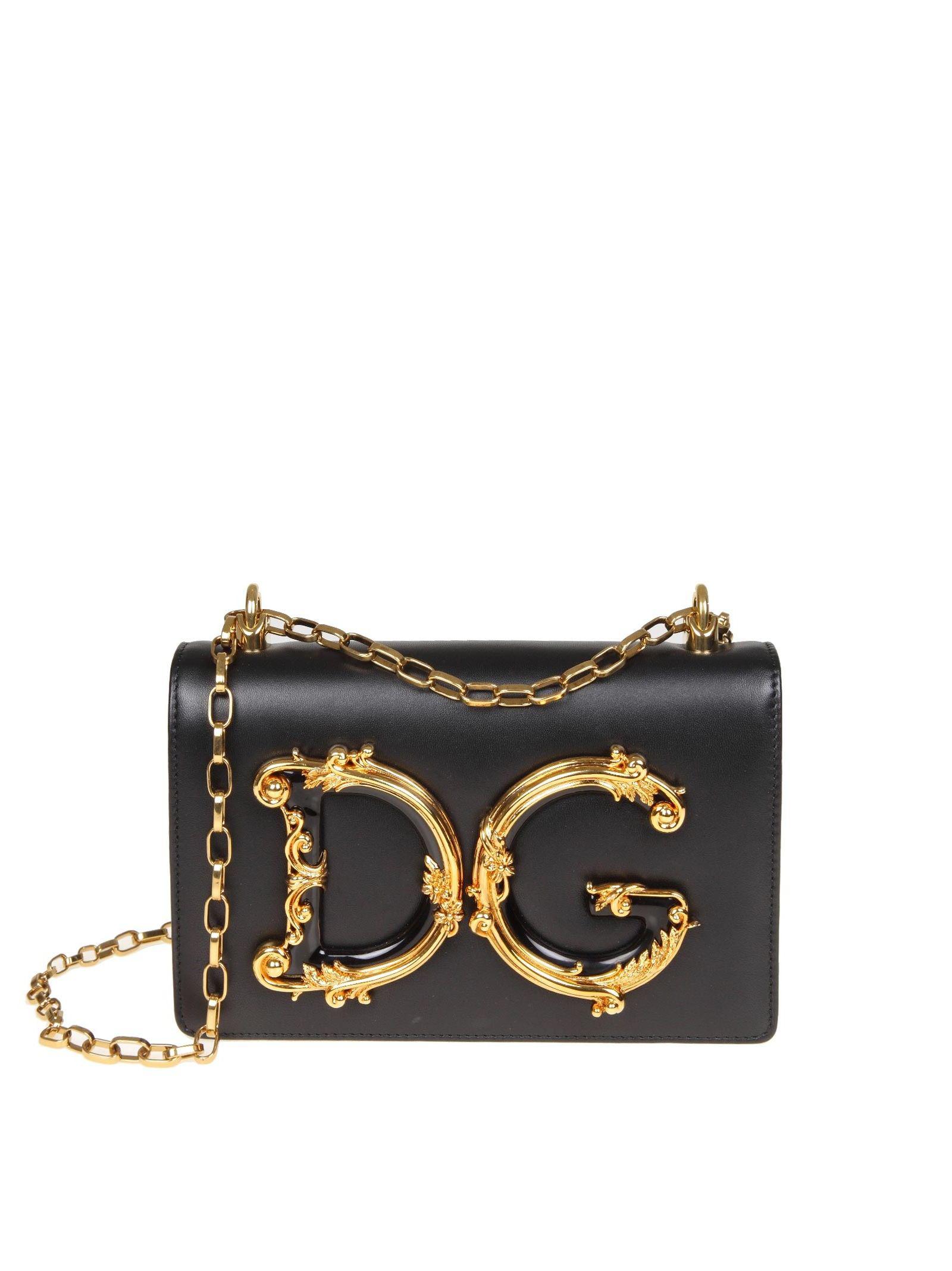 44991c69ac10 Dolce   Gabbana Shoulder Bag Dg Girls In Nappa Color Black