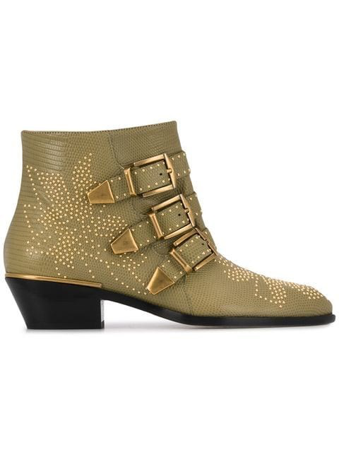 ChloÉ Susanna Studded Boots In 23r Maple Brown