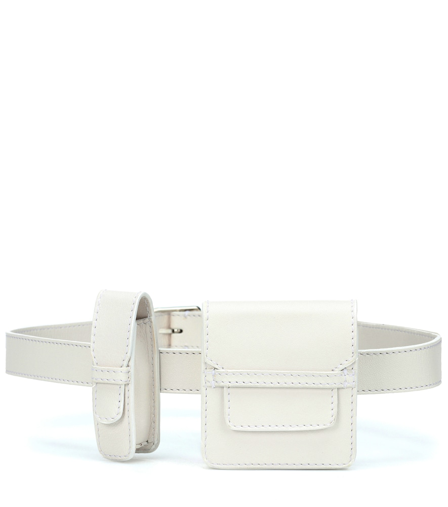 Gabriela Hearst Leather Utility Belt In White