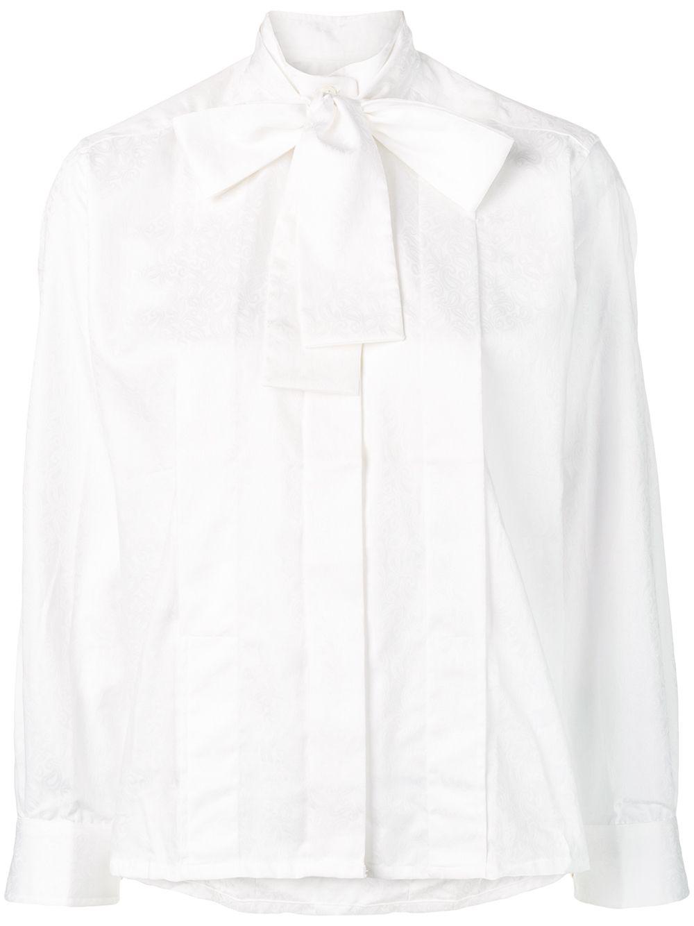 14491bd865fb Shop Celine CÉLine Vintage 古着提花衬衫- 白色