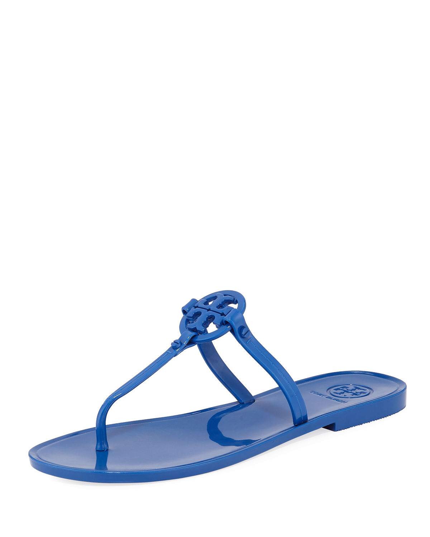 39dd6adcdf8 Tory Burch Mini Miller Jelly Thong Sandals In Bondi Blue