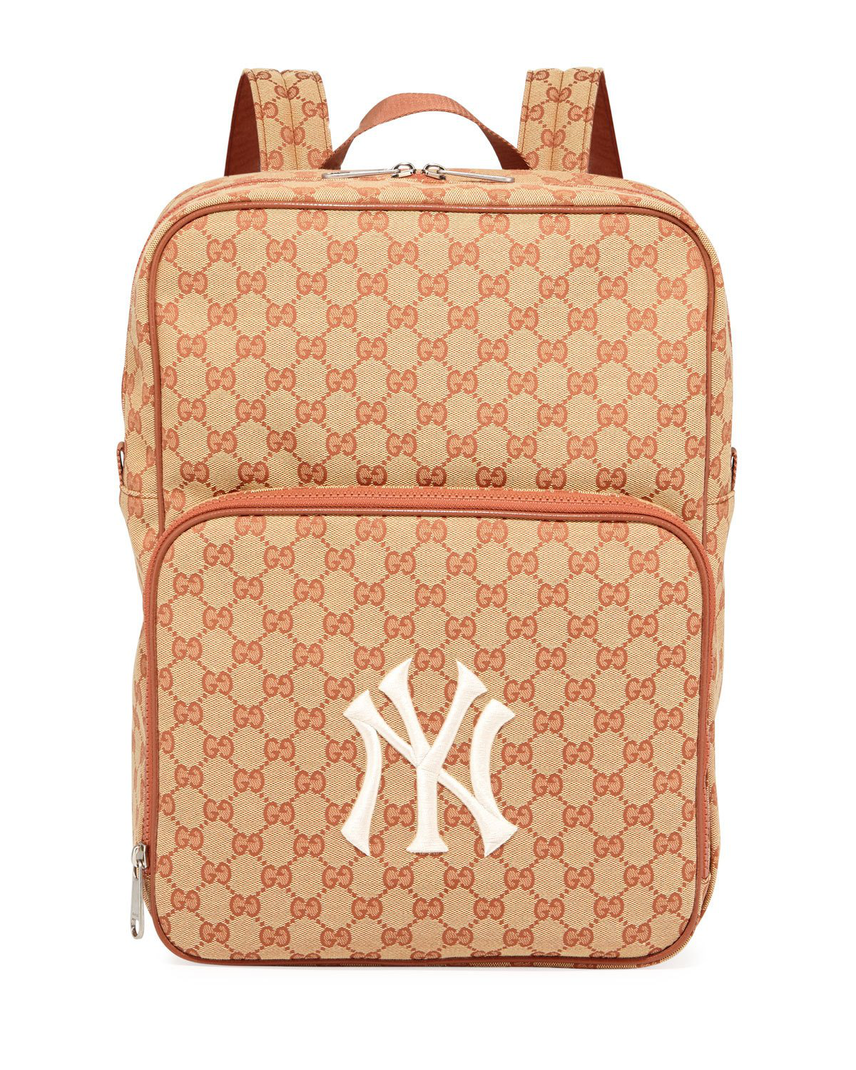 8ca59d716 Gucci Men's Gg Supreme Backpack With Ny Yankees Mlb Applique In 9573 Gg  Beige