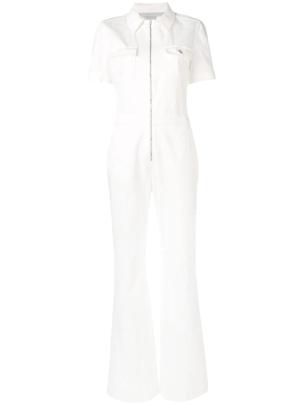4989c2526934 Stella Mccartney Stretch Denim Jumpsuit In White