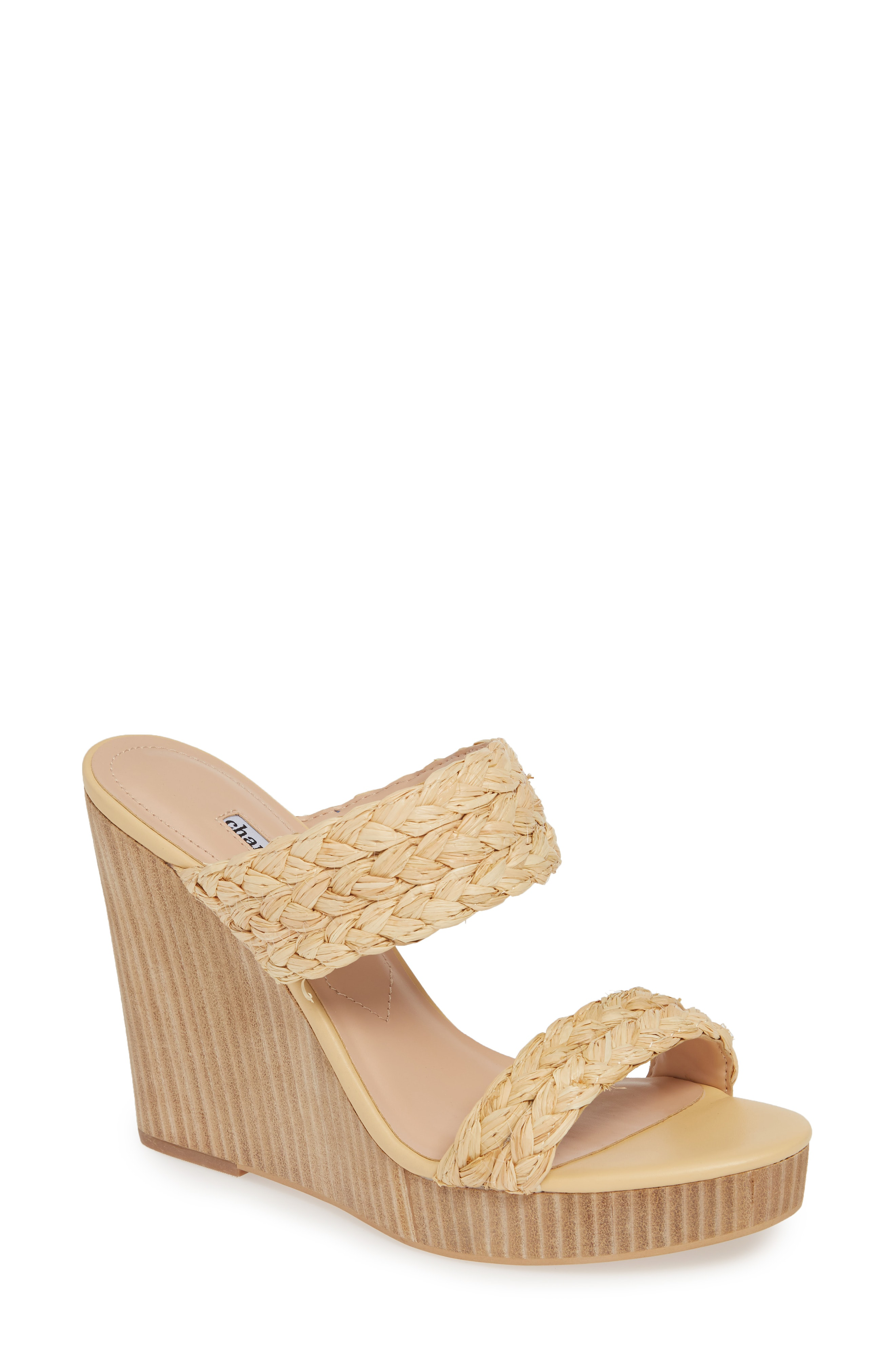 90a6925cca Charles David Women's Tifa Raffia Wedge Sandals In Natural-Rf | ModeSens