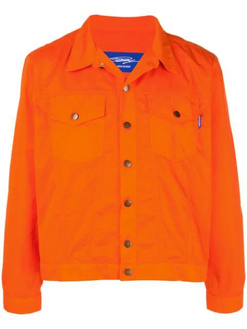 Anton Belinskiy Classic Denim Jacket In Orange
