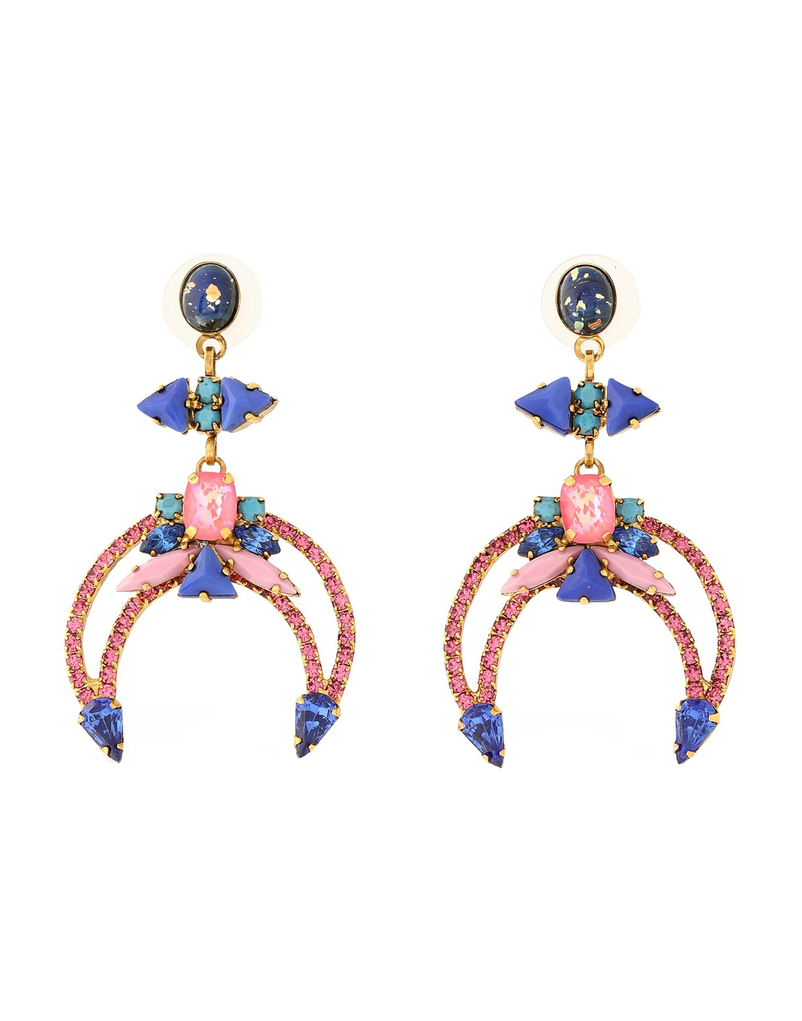 Elizabeth Cole Earrings In Fuchsia