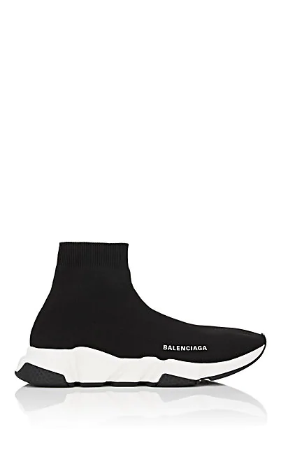 Balenciaga Black Speed Knitted High-Top Sock Sneakers