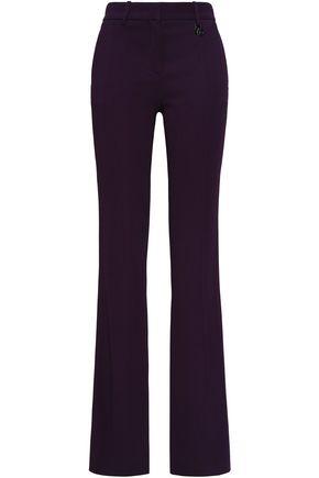 Roberto Cavalli Woman Crepe Bootcut Pants Dark Purple